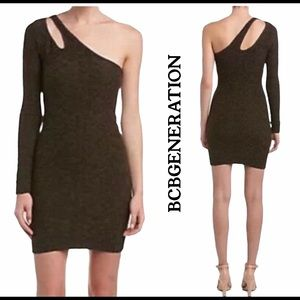 New BCBGeneration Licorice Textured Bodycon Dress